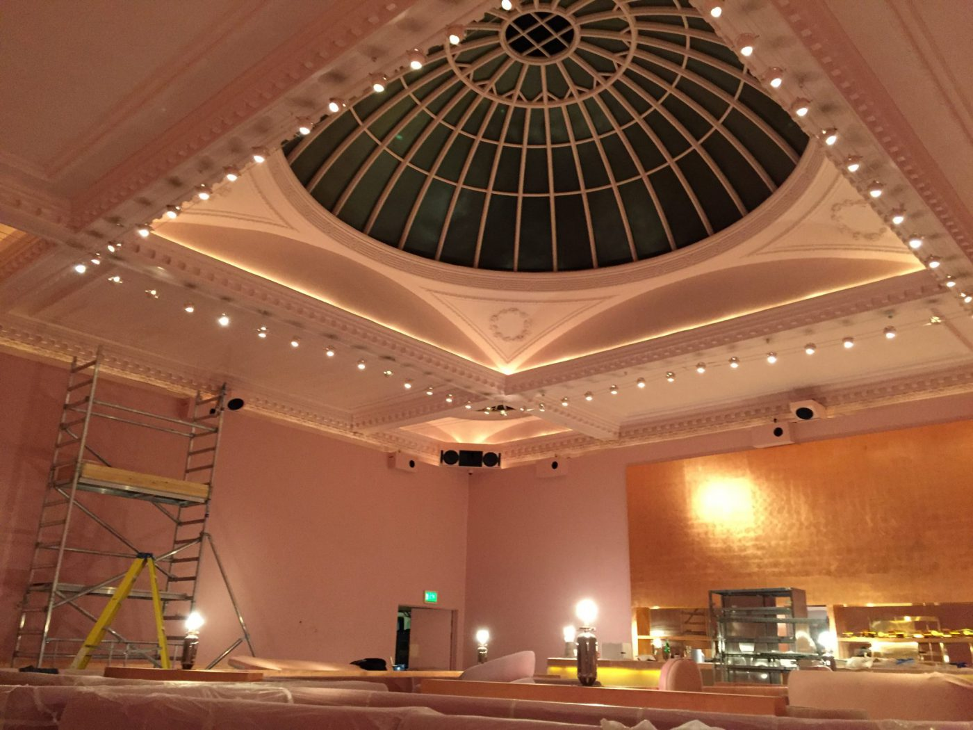 Mayfair Sketch Restaurant Project, commercial painting and decorating london