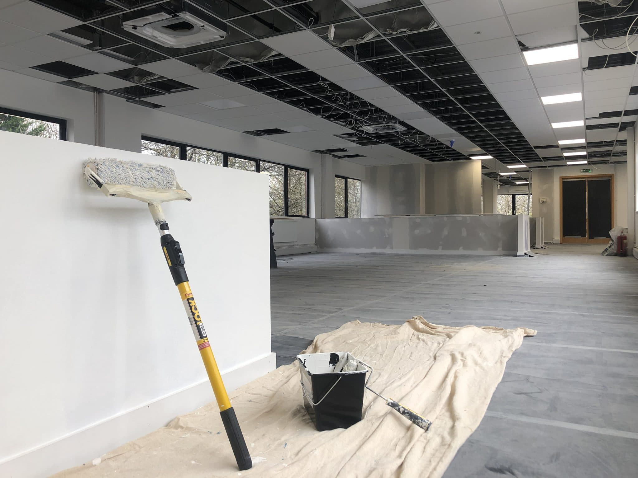 Anna Valley Offices Project, commercial painting and decorating in London