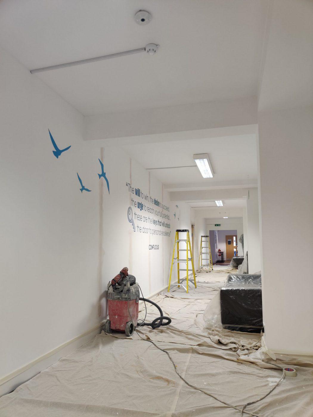 Arden University London School painting & decorating project