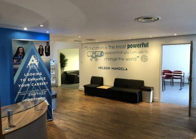 Arden University Project, commercial decorating london