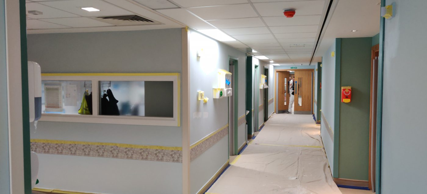 hospital painting and decorating london