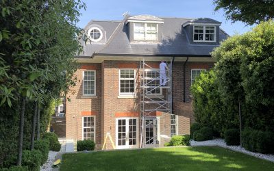 Exterior painting in London during spring and summer